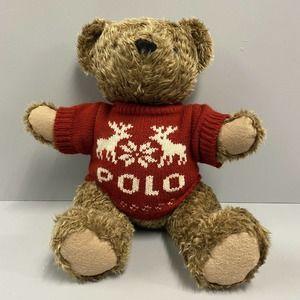 "Ralph Lauren Polo Vintage 15"" Plush Teddy Bear 98"